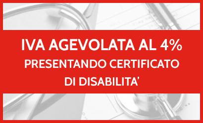 Iva agevolata al 4% per invalidità